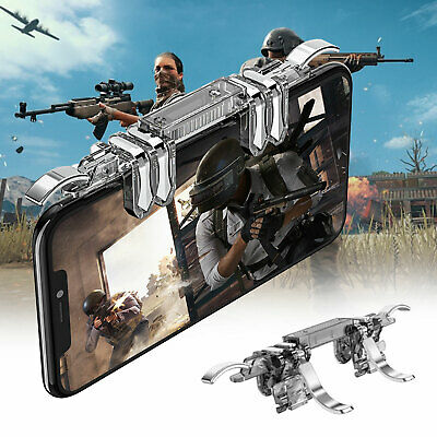 Mobile Game Controller 6 Finger Fire Button For IOS Android For Fortnite PUBG 6 Button Game Controller