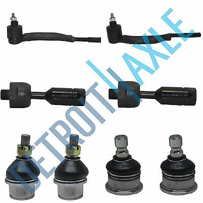 New 8pc Inner  Outer Tie Rods  All 4 Ball Joints for Chevy GMC Buick   16mm