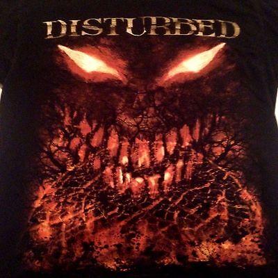 Disturbed band T shirt Black Orange sz small Halloween licensed 2010