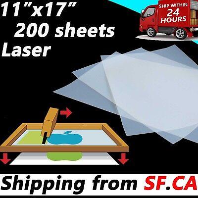11 X 17200 Sheetssilk Screen Printing Transparency Laser Printer Film Paper