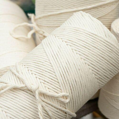 Macrame Rope Cord String 100% Natural Cotton Single Strand Bulk Jumbo Rolls USA!