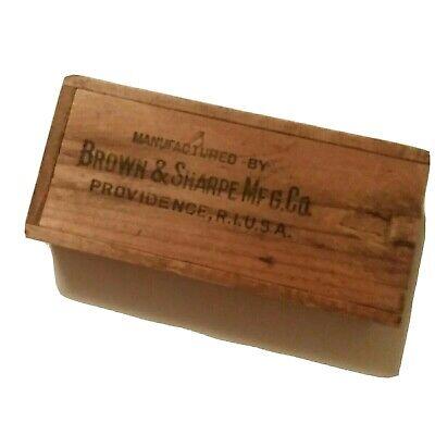 Vintage Brown Sharpe Micrometer 8 Wkey Pattend 1925 Original Wood Box