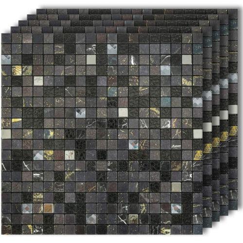 Tessera 203 Tile Pack Iridescent Mosaic Tiles 10mm Caramel Tesserae
