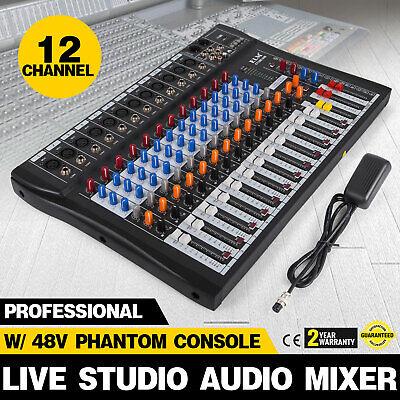 Phantom Power Mixers (120S-USB 12 Channel Live Studio Audio Mixer Mixing Console Phantom Power N3Y6 )