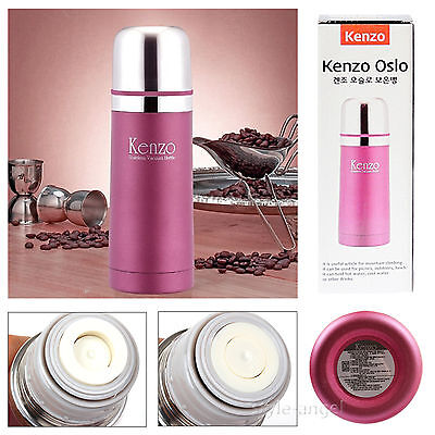 NEW VACUUM STAINLESS STEEL FLASK COFFEE & WATER BOTTLE  HOT N COLD THERMOS 350ML