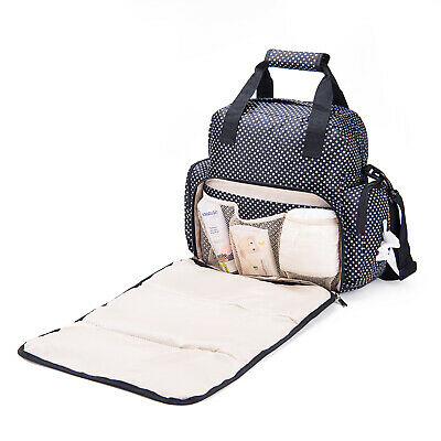 Large Diaper Bag Multifunction Maternity Backpack Shoulder Handbag Changing Pad