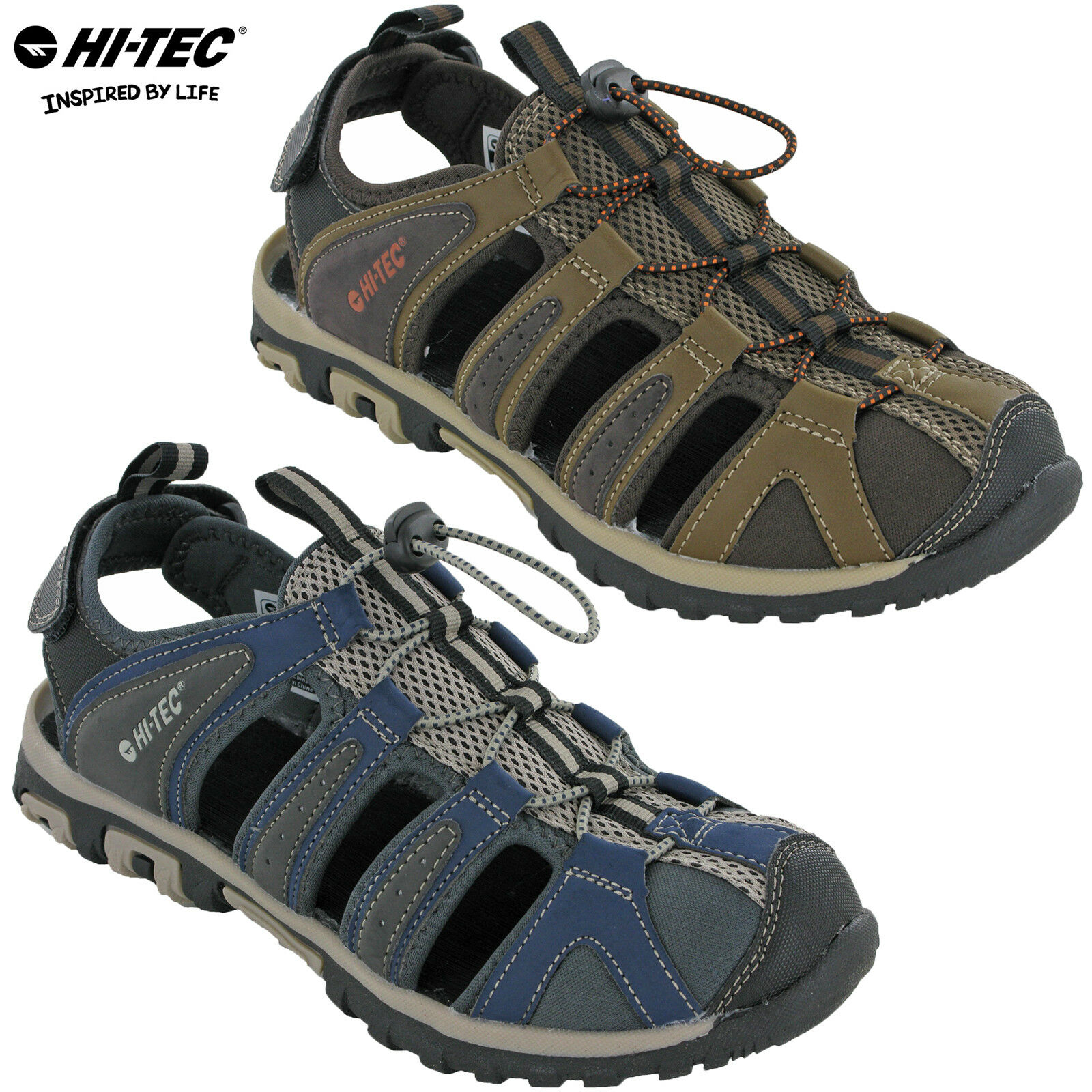 58bcfaf2c4da Details about Hi-tec Hiking Closed Toe Sandals Walking COVE BREEZE Mens  Toggle Fasten Comfort