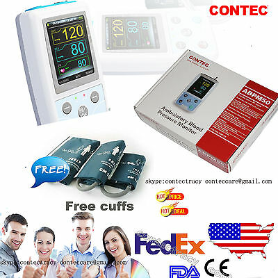 24h Nibp Holter Ambulatory Blood Pressure Monitor Abpm50swfree 3 Cuffsus Ship
