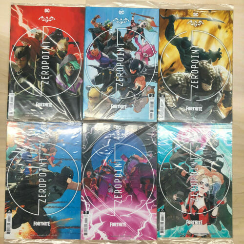 Batman Fortnite Zero Point 1-6 1st print Cover A set Sealed with Codes