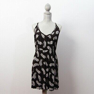 H&M Womens Sun Dress Spaghetti Strap Stretch Black SIze Large