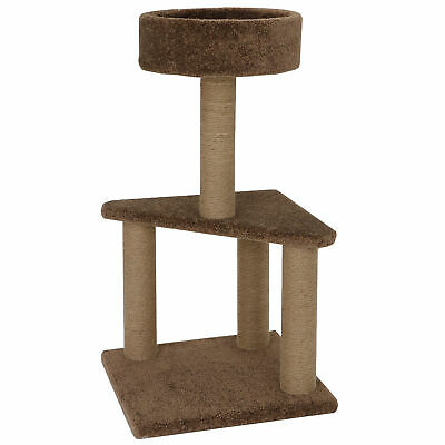Cat Scratching Posts Adult Cat and Kitten Tree Carpeted Base Play Area and Perch