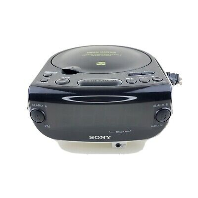 Sony Dream Machine CD Player ICF-CD815 FM/AM CD Clock Radio CD-R/RW Playback