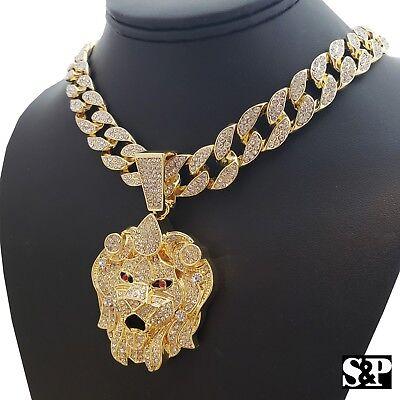 Hip Hop Bling Pendant (Hip Hop Bling LION HEAD pendant w/ 18