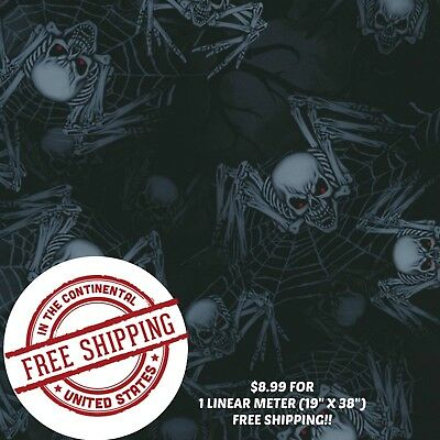 Hydrographic Film Water Transfer Hydro Dip Film Spider Skulls 3 1m 19 X 38