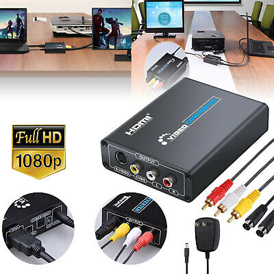 HDMI to Composite 3RCA AV S-Video R/L Audio Vdieo Converter & RCA/S-Video Cable