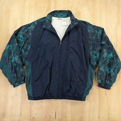 NIKE color block windbreaker jacket MEDIUM abstract print 90s aesthetic vtg