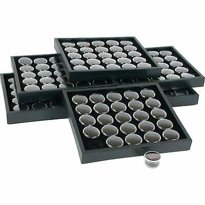 6 25 Black Gem Jars Display & Stackable Tray