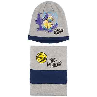 Minions Beanie & Schal Mütze Kindermütze Wintermütze Kinderschal
