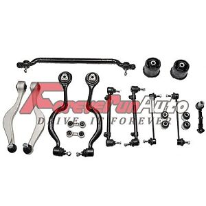 Control Arms Tie Rod Ball Joint Suspension Kit 16 PC for BMW E34 525 535 540 M5