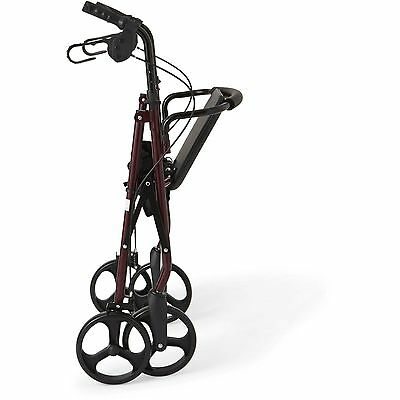 NEW Rollator Walker Adult Senior with 4 Wheel 7.5'' Casters in Burgundy NEW!