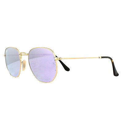 Ray-ban Sonnenbrille Sechseckig 3548N 001/8O Gold Lila Spiegel 51mm
