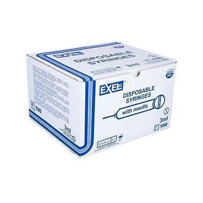 Exel Luer Lock Syringe 3ml 25g X 1 12 100box 26112