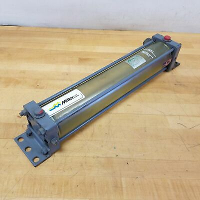Miller B71tnk Pneumatic Grease Cylinder. 3-14 Bore 17 Stroke 150 Psi