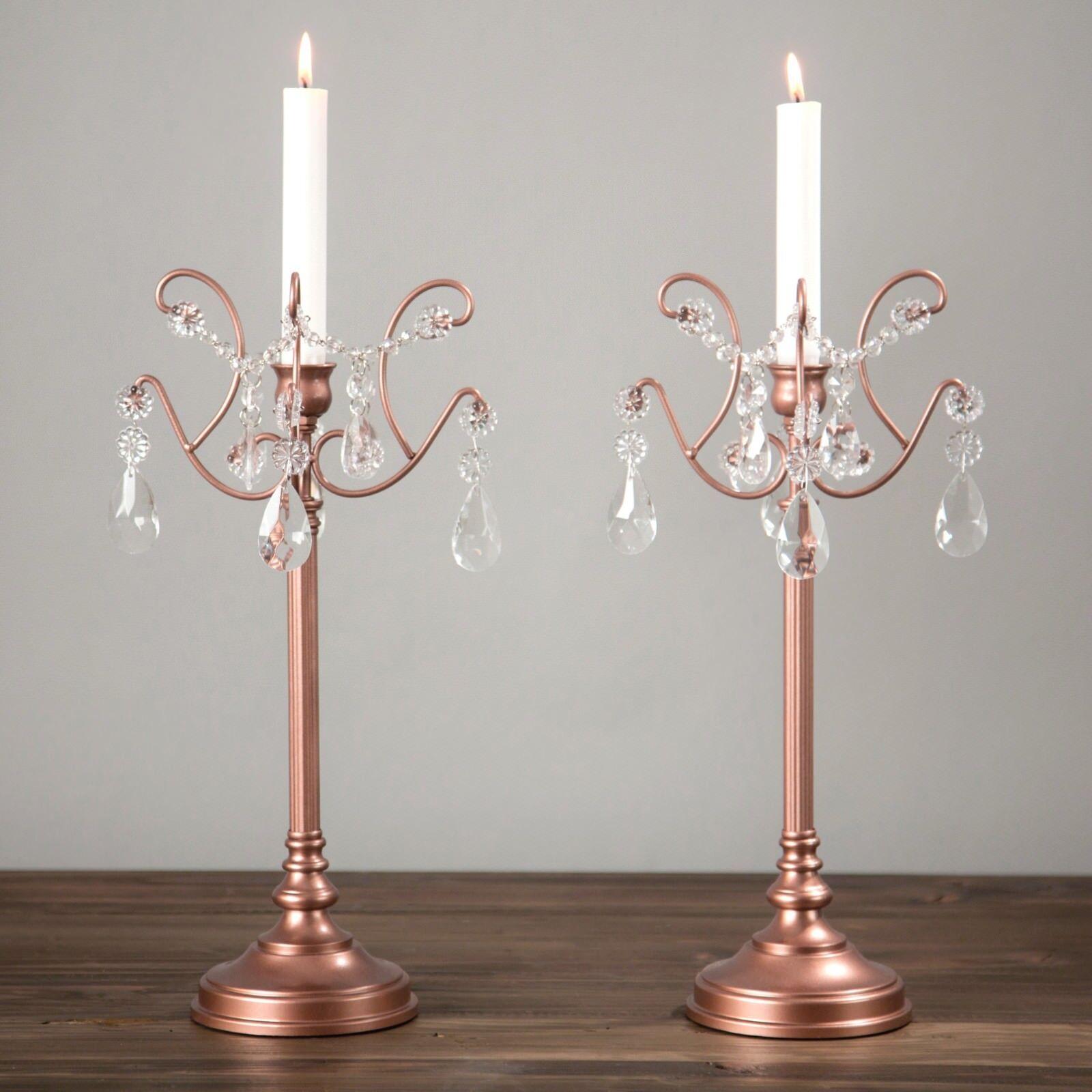2-Piece Candlestick Candle Holder Set Candelabra Light Home