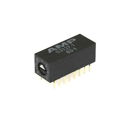 Amp 53137-1 16-pin Hexadecimal Side Adjust Rotary Dip Switch New Quantity-2