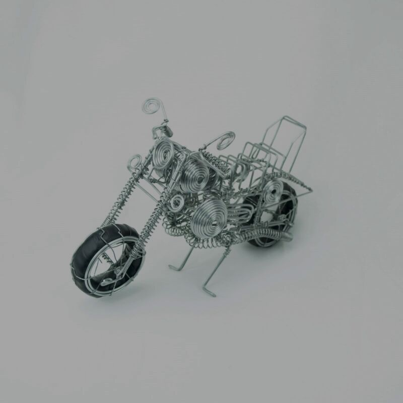 Handmade Motorcycle Harley Davidson Recycled Eco-friendly Material Wire