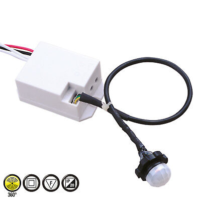 Mini Bewegungsmelder 360° Sensor Unterputz für LED Einbau Decke Wand IP20 1200W  360-sensor