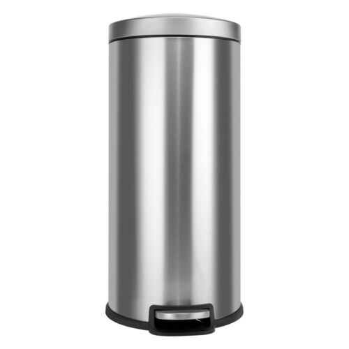 Innovaze 8 Gal/30L Stainless Steel Round Kitchen Step Trash Can