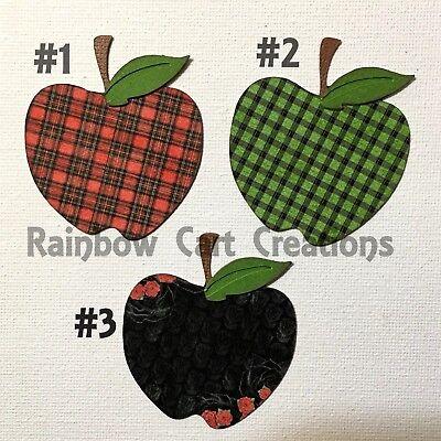 9 Apple Die Cut Embellishment Paper Piecing Vtg Shabby Chic Scrapbooking - Shabby Chic Scrapbook Paper