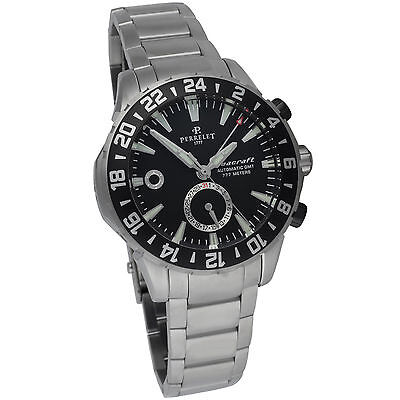 Perrelet Diver Seacraft GMT Automatic Men's Luxury Watch A1055/B Diver Swiss