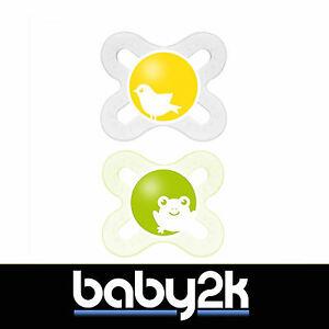 MAM Start Dummies Soother Newborn Baby 0-2 Months 2 Pack Neutral Bird Frog BNIP