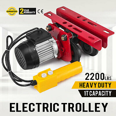 1t2200lbs Capacity Electric Trolley Adjustable Localfast 1.2m4ft Cable