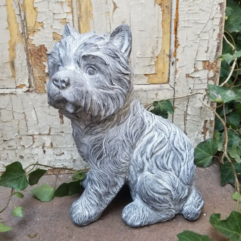 Resin Magnesium Terrier Dog Figurine Statue