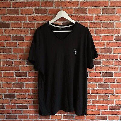 US Polo Assn T Shirt V Neck Size XL Black With White Logo Mens Essentials Bigman, usado comprar usado  Enviando para Brazil