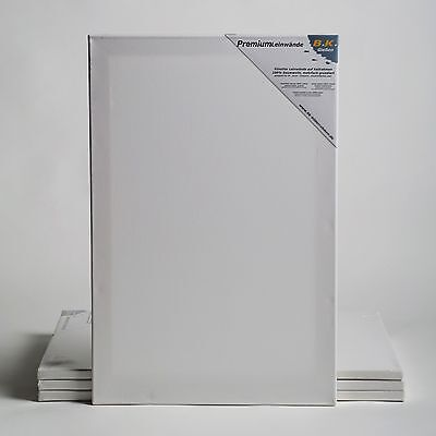 4 LEINWÄNDE AUF KEILRAHMEN 60x80 cm Künstler Leinwand Set