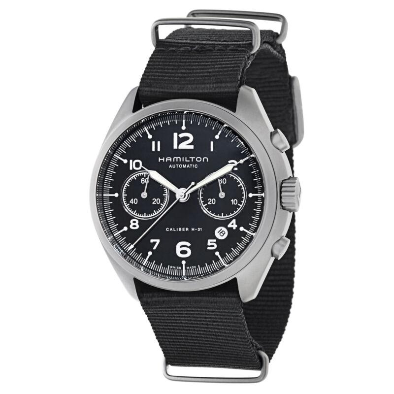 Hamilton Men H76456435 Khaki Aviation Black Dial 41mm Canvas Watch