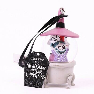Nightmare Before Christmas Lock Shock Barrel Mini Snowglobe Ornament Disney Park