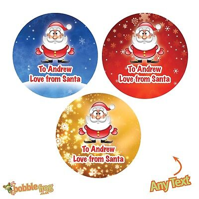 48 x Personalised Christmas Stickers Santa Father Christmas Present Labels -386