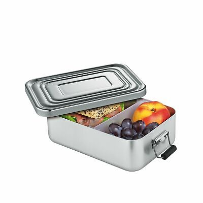 KÜCHENPROFI Lunchbox Lunch-Box klein 18x12x5 cm silber Brotdose