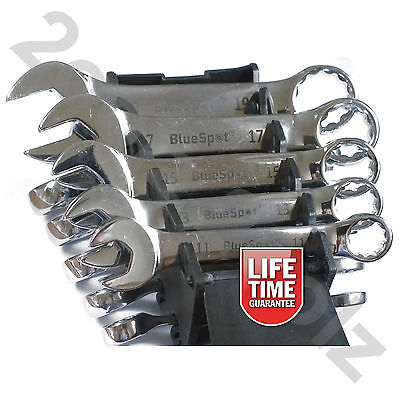 10pc Stubby Combination Spanner Set 10-19mm Short Spanners Wrench by BlueSpot