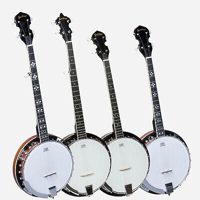 New Heartland Banjo,4 String Tenor Banjo,5 String and 6 String Banjo + Bag