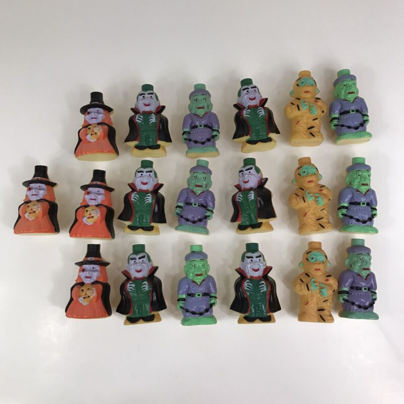 Lot Of 19 Vintage HALLOWEEN low Mold String Light Covers Mummy Witch Dracula