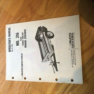 New Idea Manure Spreader 216 Operator Maintenance Manual