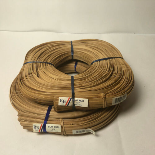 "Basket Weaving Making Reed Flat 1/4"" 1lb New Roll Natural Color"