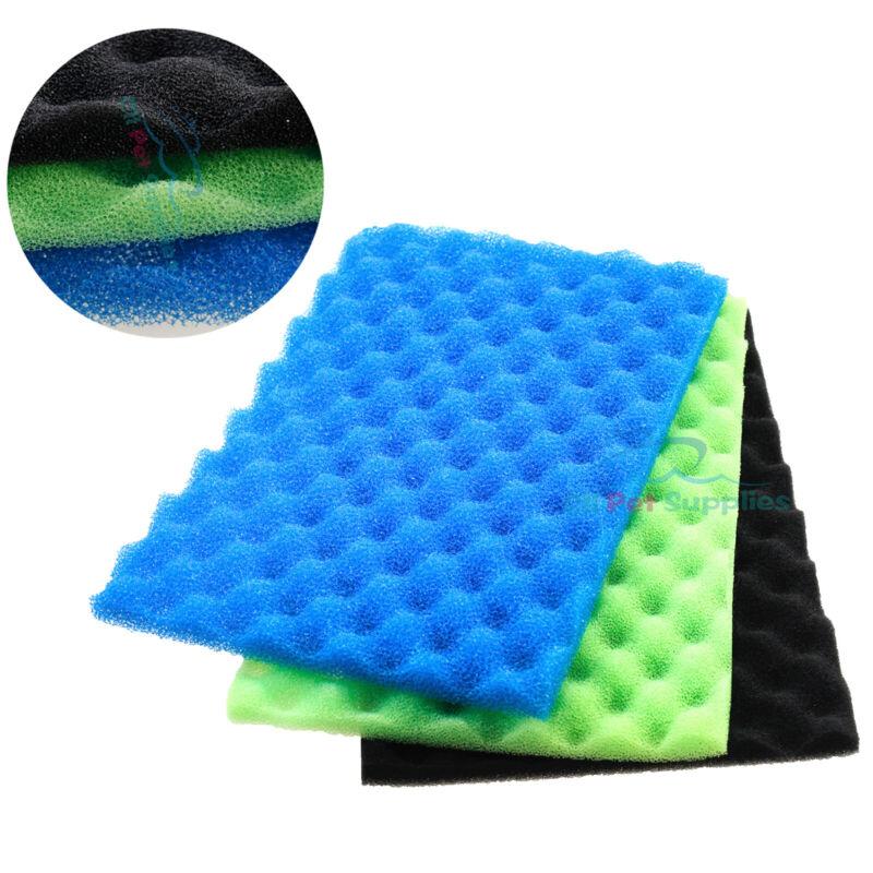 """AQUANEAT Aquarium Bio Sponge Foam Filter Media Pad for Fish Tank Sump Pond 17"""""""