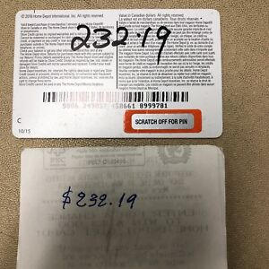 Home Depot in store credits